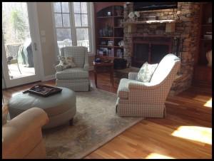Custom Chairs and Ottoman